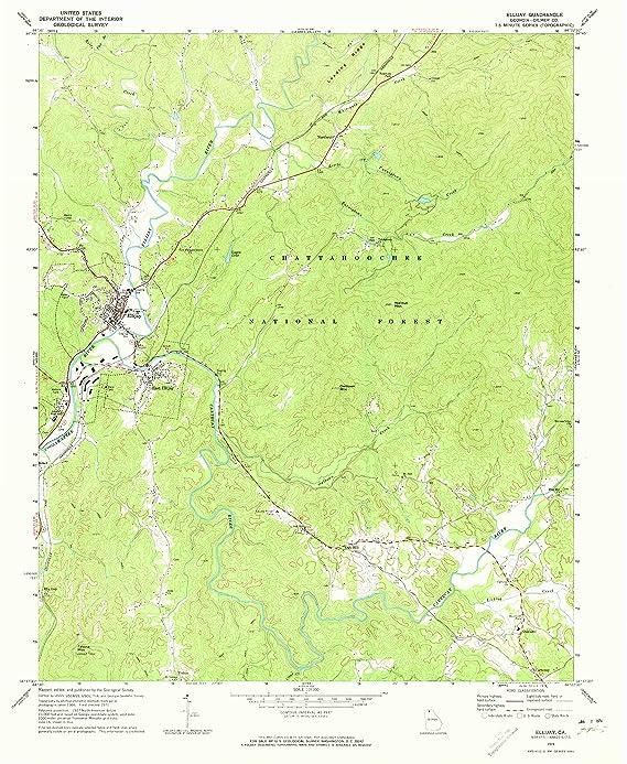Map Of Georgia Ellijay.Amazon Com Yellowmaps Ellijay Ga Topo Map 1 24000 Scale 7 5 X