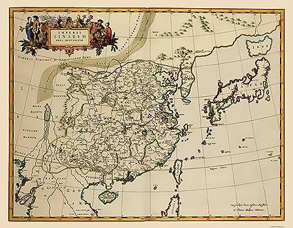 Korea Asia Map.Amazon Com Old Asia Map China Korea Japan Blaeu 1655 23 X
