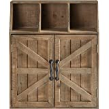 Stone & Beam Farmhouse Wall Mounted Cabinet Storage Organzier - 23 x19 x 6 Inch, Natural Wood