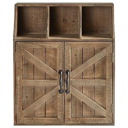 Amazon Com Stone Beam Farmhouse Wall Mounted Cabinet