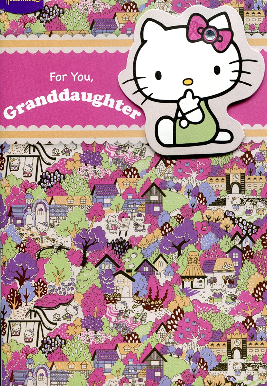 Tarjeta de felicitación de cumpleaños Hello Kitty 2d tarjeta ...