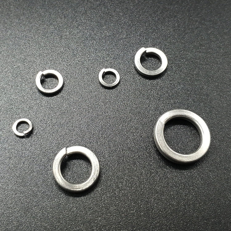 Miikmiix Lock Washers Kit,Stainless Steel,M2.5,M3,M4,M5,M6,M8,M10