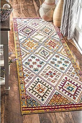"""nuLOOM RZBD89A Tribal Smyrna Runner Rug, 2' 8"""" x 8', Multicolor"""