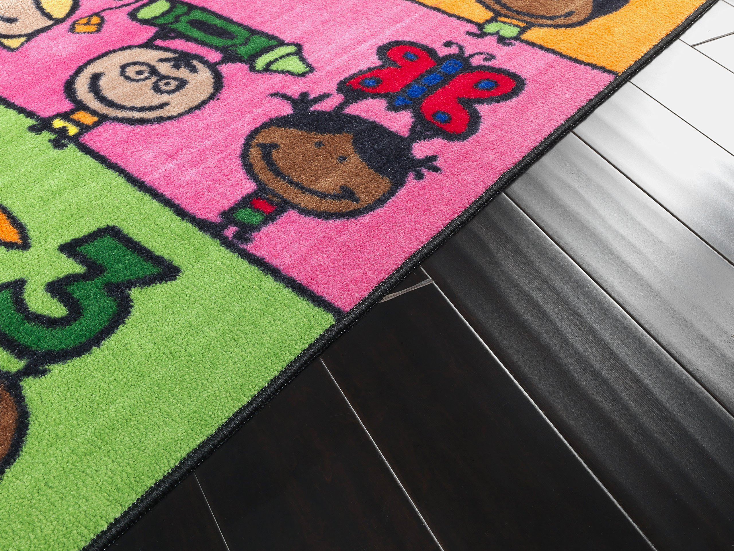 Flagship Carpets CE190-28W Fun at School Rug, Explore Health and Wellness As Well As STEAM Subjects, Children's Classroom Educational Carpet, 5' x 8', 60'' Length, 96'' Width, Multi-Color by Flagship Carpets (Image #15)