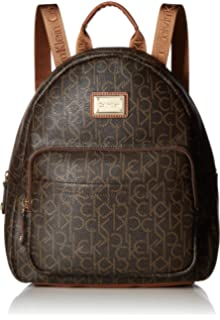 127477a6345 Amazon.com: Calvin Klein Elaine Signature Key Item Flap Backpack ...