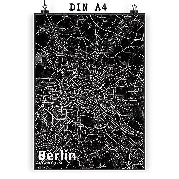 Mr Mrs Panda Poster DIN A4 Stadt Berlin Black