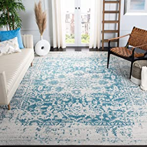 Safavieh Madison Collection MAD603J Oriental Snowflake Medallion Distressed Non-Shedding Stain Resistant Living Room Bedroom Area Rug, 6'7