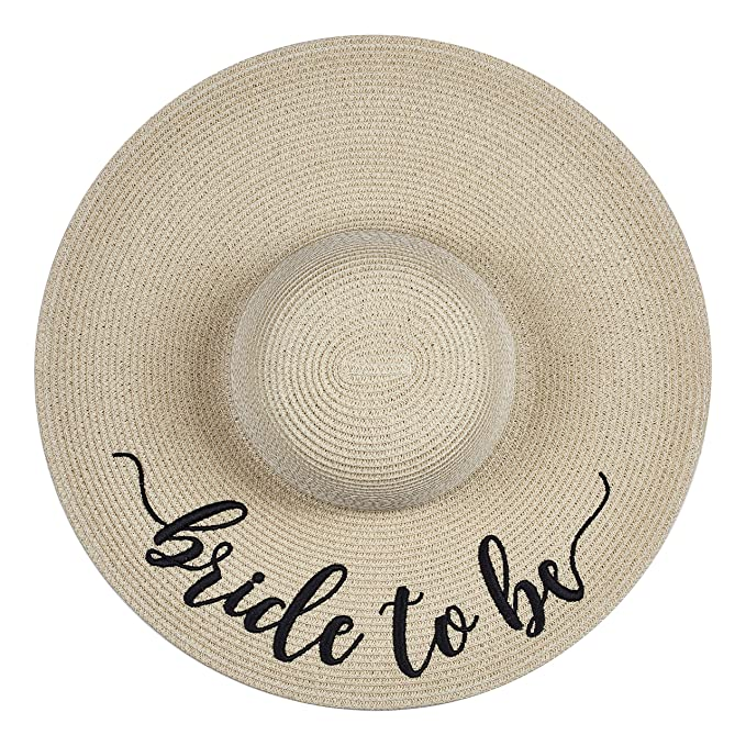 05ba058bcf159 The Chic Soul Beach Floppy Hat for Bridal Shower Gift Bachelorette Party  (Bride to Be) at Amazon Women s Clothing store