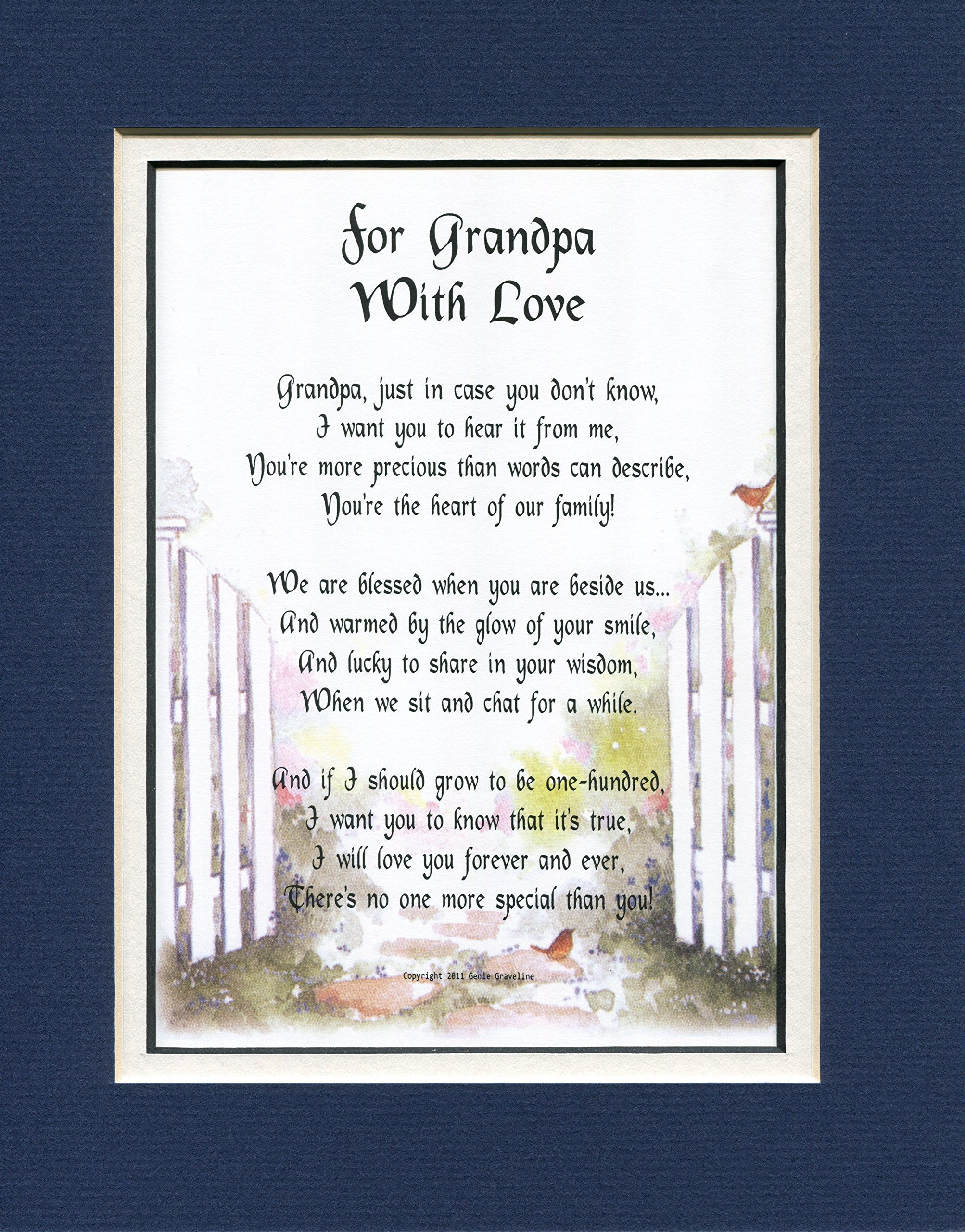 A Birthday Or Christmas Gift Present For Grandpa, # 45a, A Grandfather Poem.