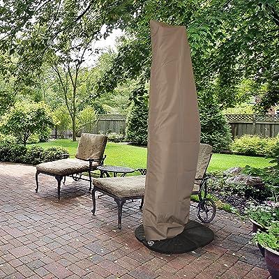 Island Umbrella NU5512 All-Weather Protective Umbrella Cover-Fits 10' to 13' Cantilever Umbrellas : Garden & Outdoor