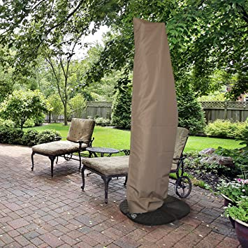 Amazon Com Island Umbrella Nu5512 All Weather Protective Umbrella Cover Fits 10 To 13 Cantilever Umbrellas Garden Outdoor