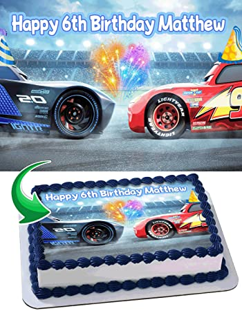 Image Unavailable Not Available For Color Lightning MCqueen Cars 3 Disney Pixar Birthday Cake
