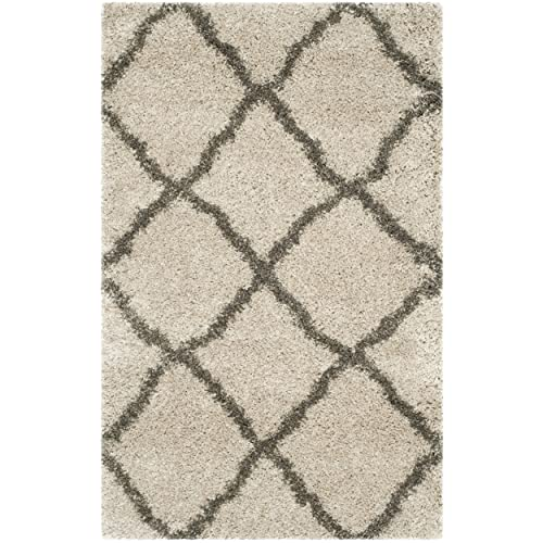 Safavieh Belize Shag Collection SGB489D Taupe and Grey Area Rug 3 x 5
