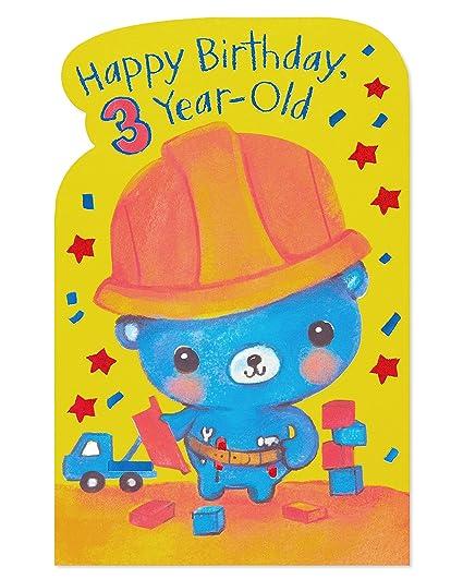 Amazon Com American Greetings Truckloads 3rd Birthday Card For Boy