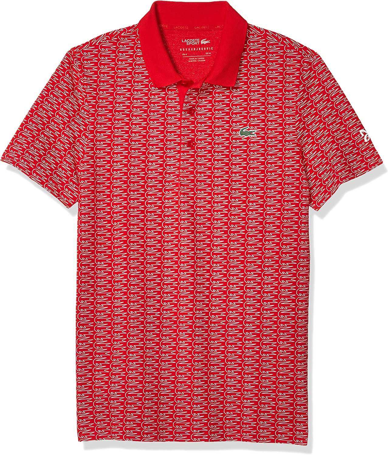 Lacoste Men S Sport Novak Djokovic Allover Croc Super Light Polo Shirt At Amazon Men S Clothing Store