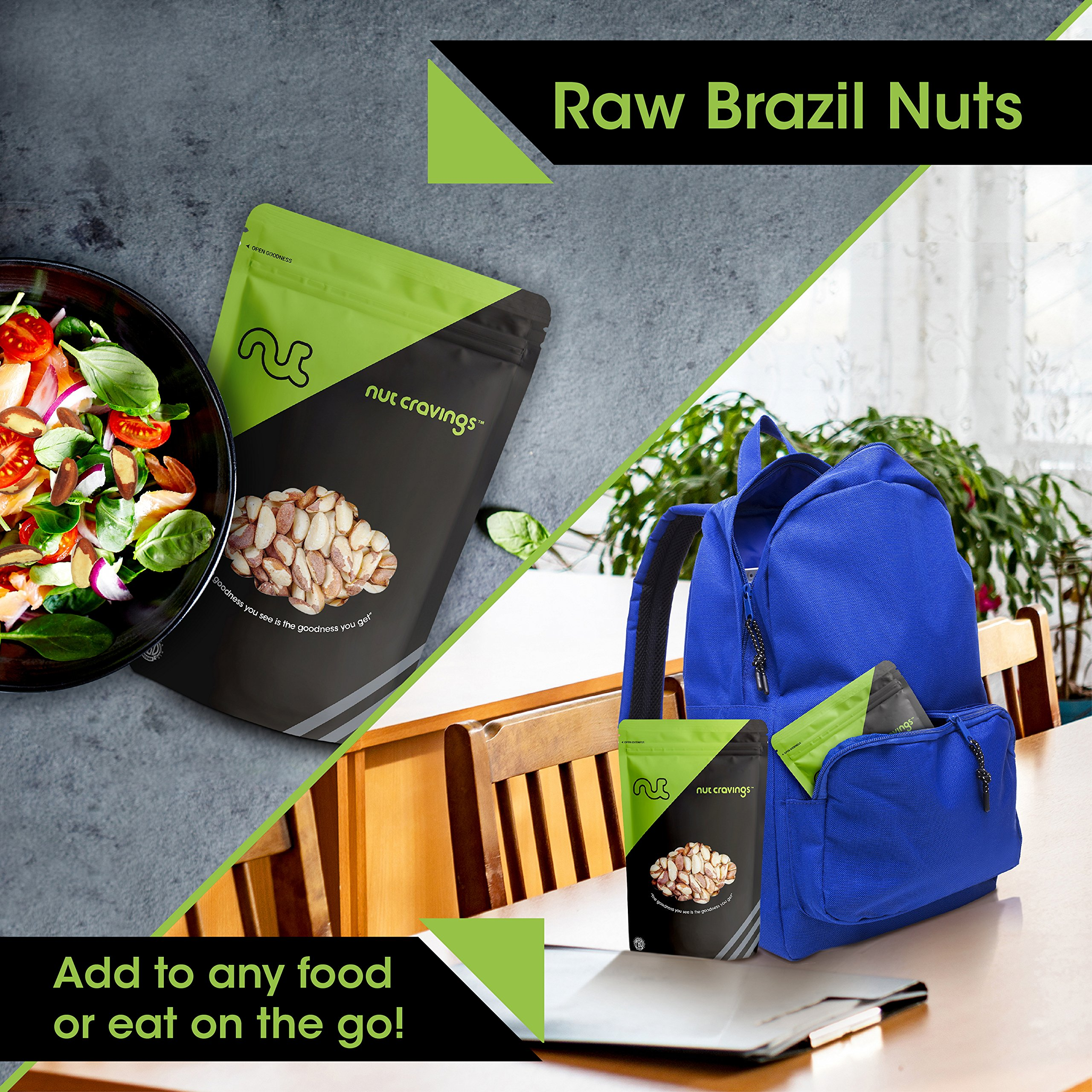 Nut Cravings Raw Compare To Organic Brazil Nuts (3 Pounds) – Whole, Unsalted, No Shell Brazilian Nuts – 48 Ounce by Nut Cravings (Image #3)
