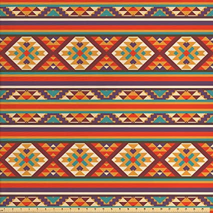Amazon Com Ambesonne Native American Decor Fabric By The Yard