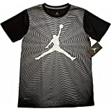 Jordan Boys Youth In The Flow Printed Dri-FIT T-Shirt Tee Black Size L (12-13yrs)