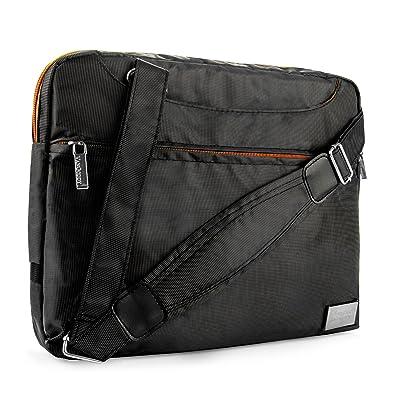VanGoddy NineO Messenger Bag for LG Gram 13.3 to 14 inch Laptops (Orange)