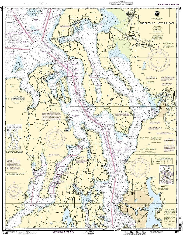 Amazon com 18441 puget sound northern part fishing charts