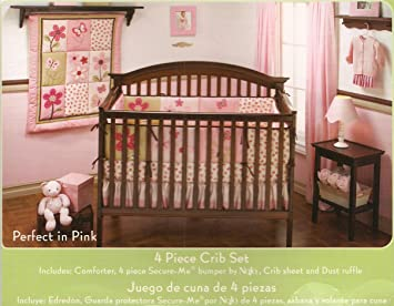 Amazon.com : Naturally for Baby - Organic Perfect in Pink 4 Piece Crib Set : Crib Bedding Sets : Baby