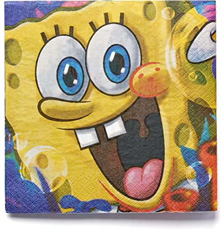 Amscan SpongeBob Classic Lunch Napkins 16