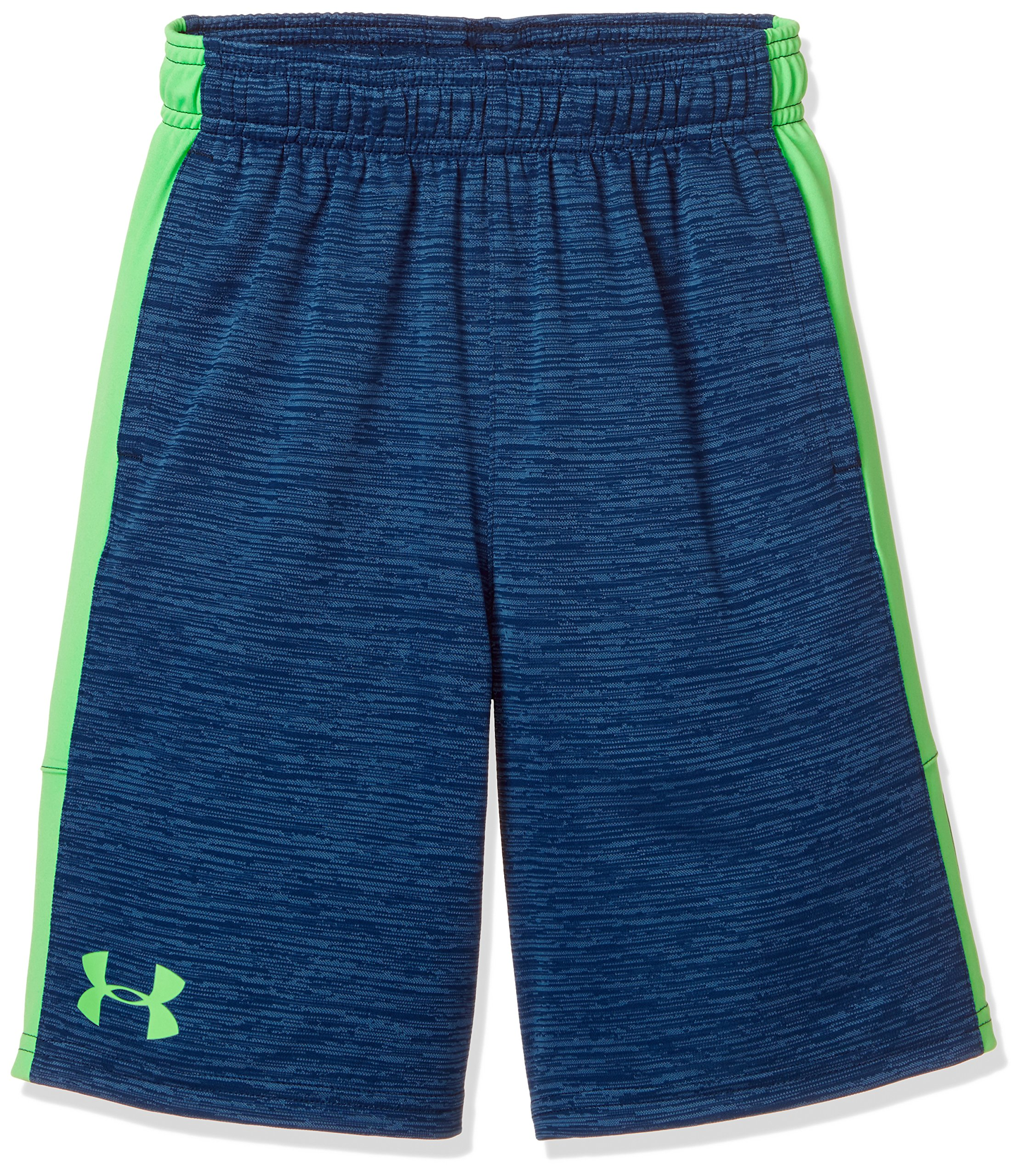 Under Armour Boys Stunt Printed Short, Blue/Green/Blue, YM by Under Armour