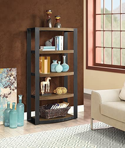Amazon Com Whalen Furniture Santa Fe Storage Shelf And Audio Tower
