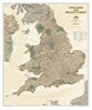 England and Wales Executive Wall Maps Countries & Regions (National Geographic Reference Map)