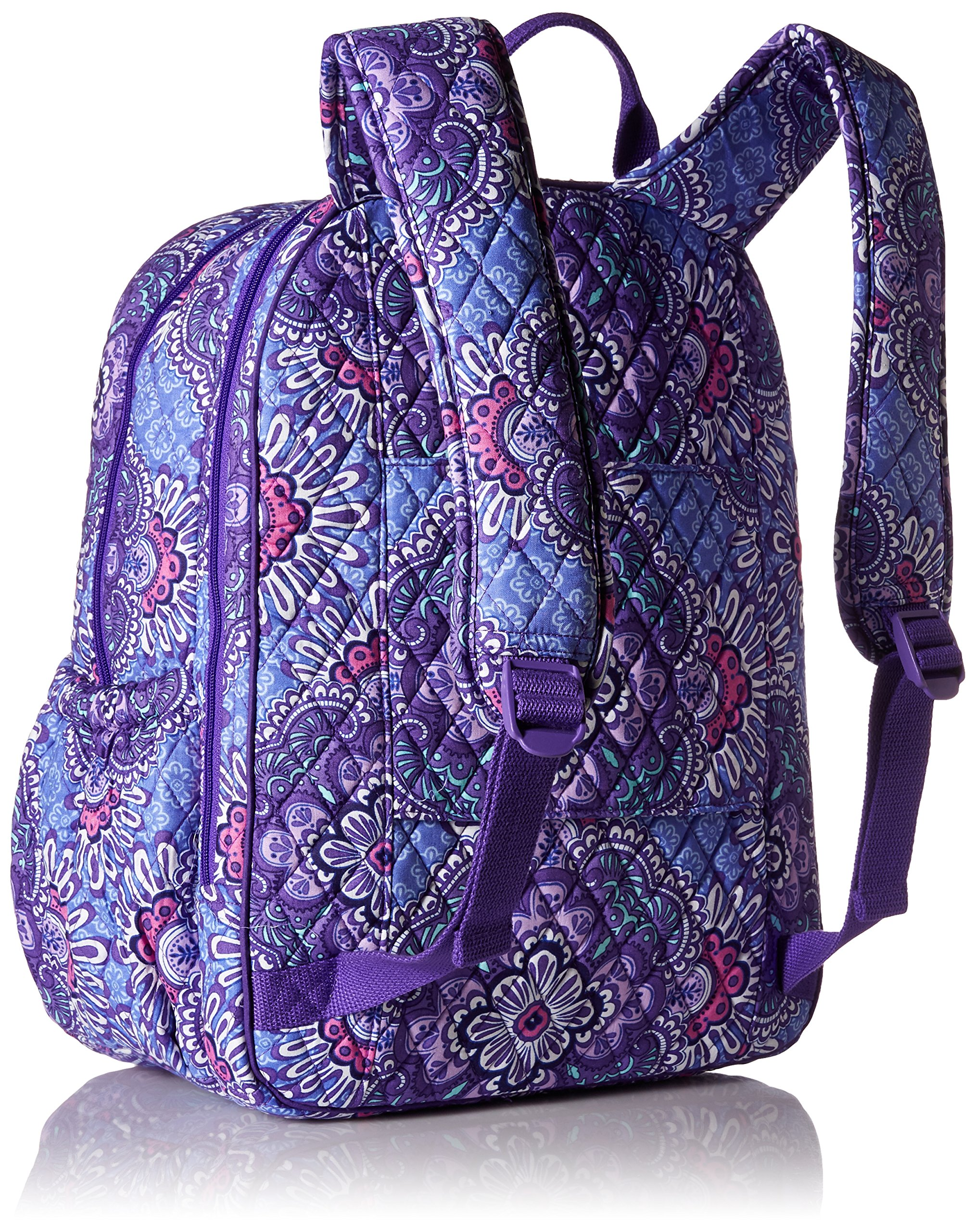 Women's Campus Tech Backpack, Signature Cotton, Lilac Tapestry by Vera Bradley (Image #4)
