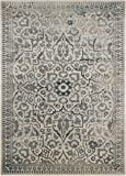 Safavieh Cordova Vintage Inspired Rug, 72% Viscose 15% Cotton 13% Polyester, Cream/Light Blue,100 x 170 cm