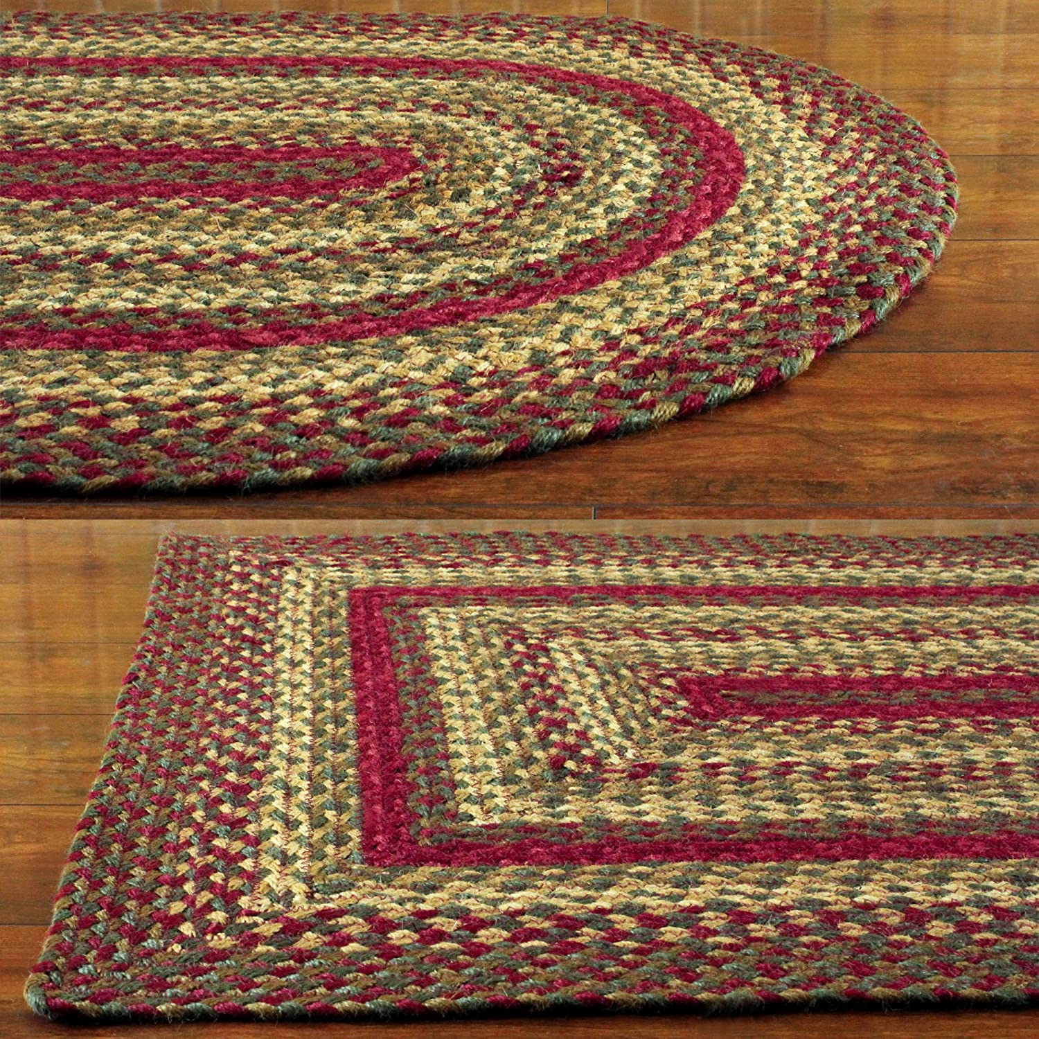 cinnamon oval braided rug 20 x30 kitchen dining