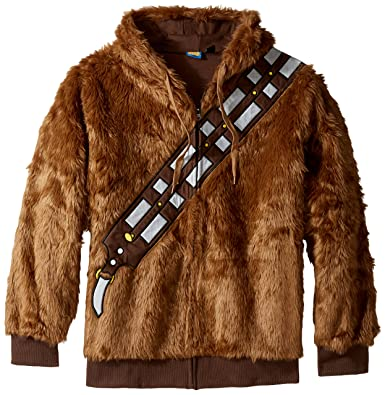 Amazon Com Star Wars I Am Chewie Chewbacca Furry Costume Hoodie
