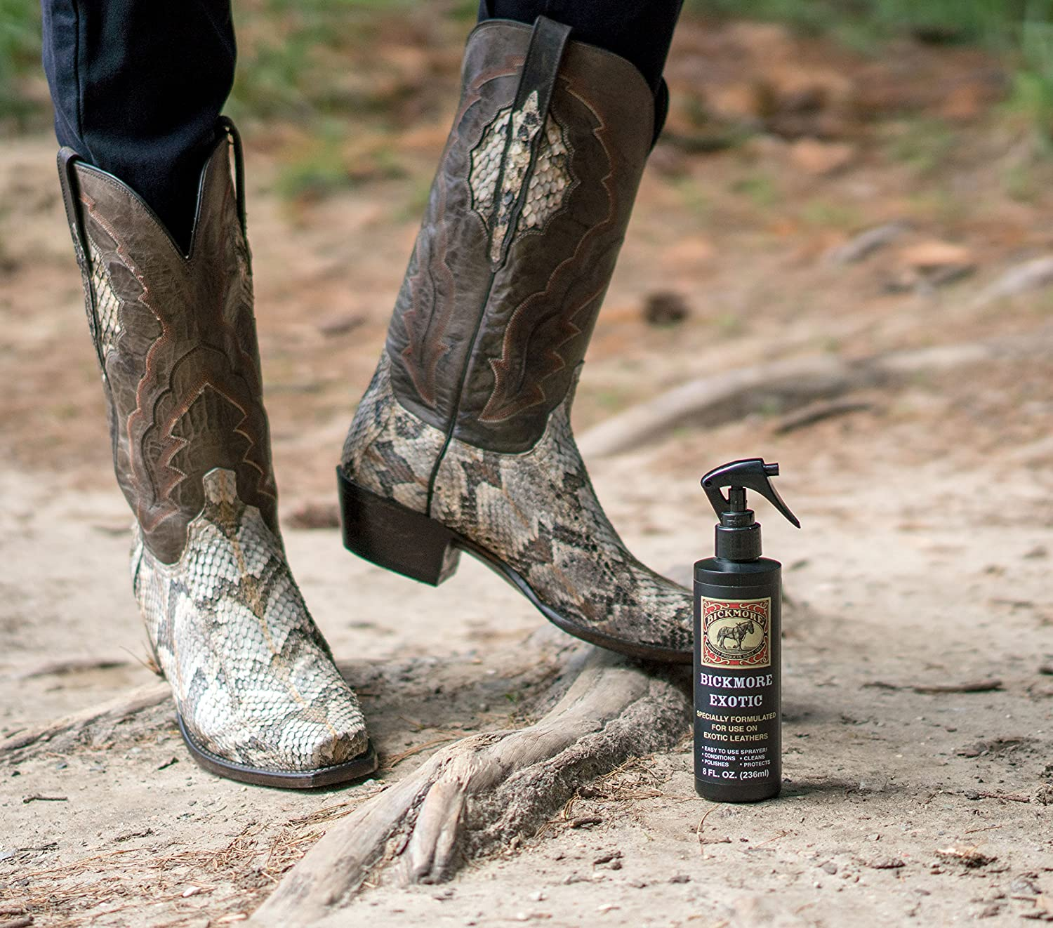 444eebe8821 Bickmore Exotic - Specially Formulated Leather Spray Used to Clean  Condition Polish and Protect Exotic Leathers & Reptile Skins, 8oz