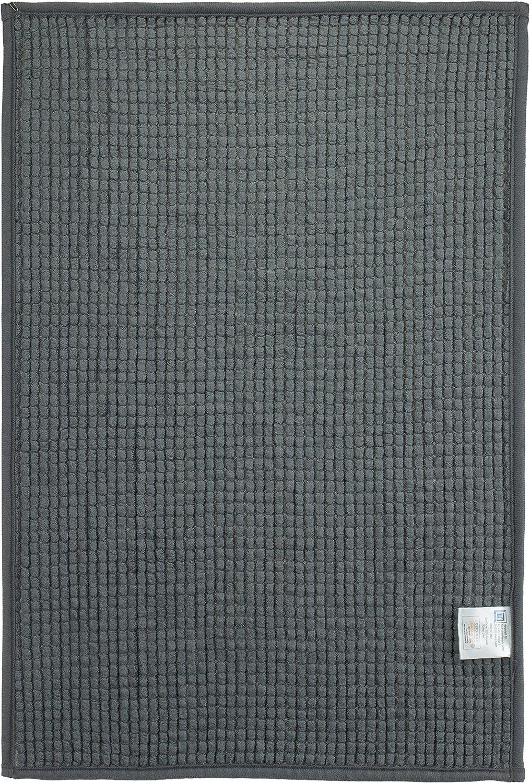 Tappetino da bagno moderno in ciniglia bordeaux 40 x 60 cm turchese stile shaggy Poliestere Grau 50 x 70 cm verde colore crema ca Brandseller grigio e grigio talpa