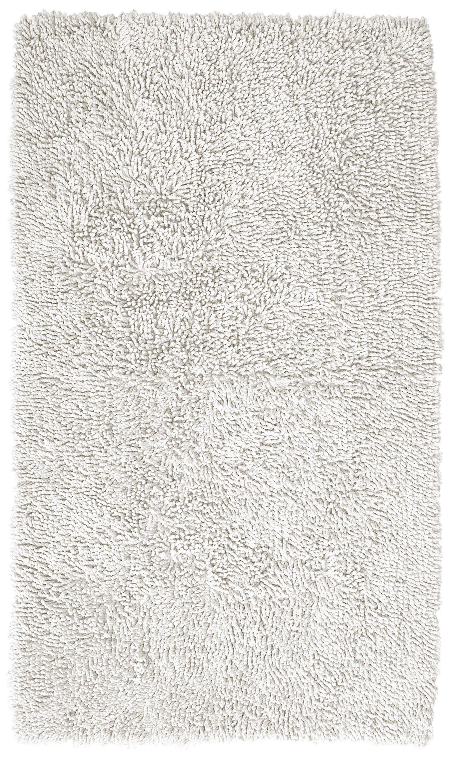 Pinzon 100% Cotton Looped Bath Rug with Non-Slip Backing - 21 x 34 inch, White