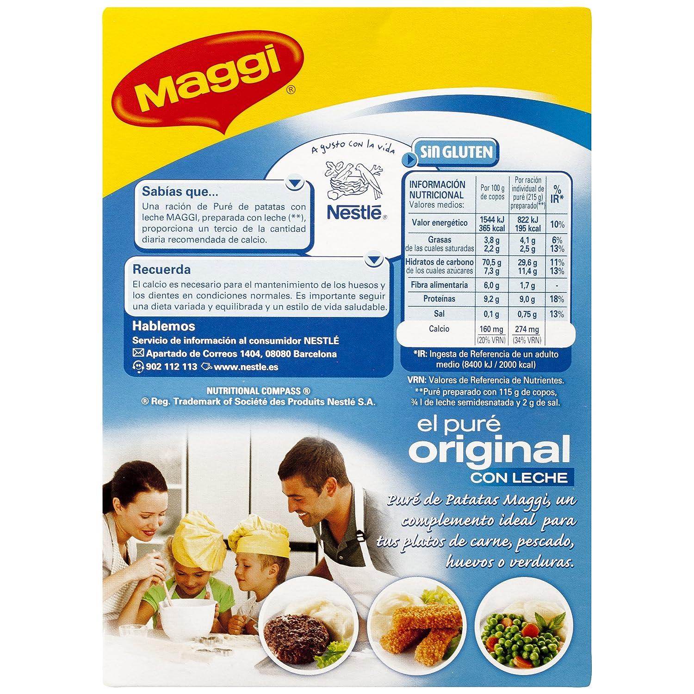 Maggi Puré de Patatas Con Leche - Puré Sin Gluten - Paquete de 16x230 g - Total: 3.68kg: Amazon.es: Alimentación y bebidas