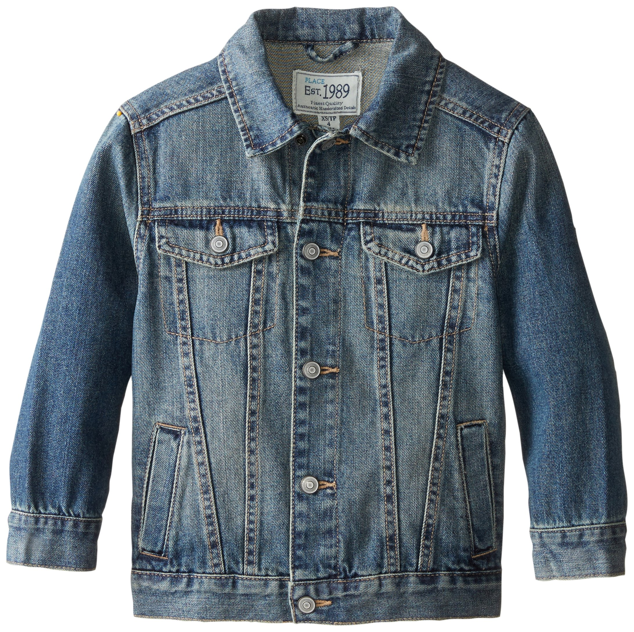 The Children's Place Little Boys' Basic Denim Jacket, Stream, Medium