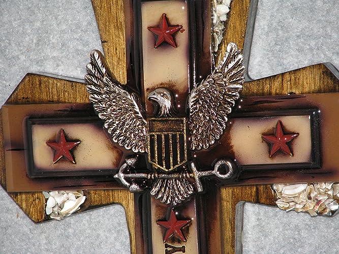Decorative Wall Cross, Handmade Cross, Wooden Cross, Military Cross, Navy  Cross