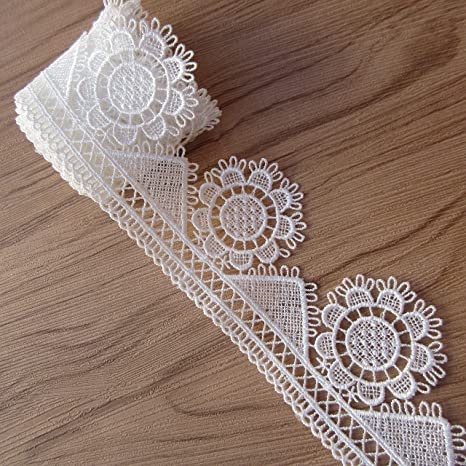 WEDDING VINTAGE WHITE LACE 16 mm SCRAPBOOK,BRIDAL SEWING RIBBON TRIMMING