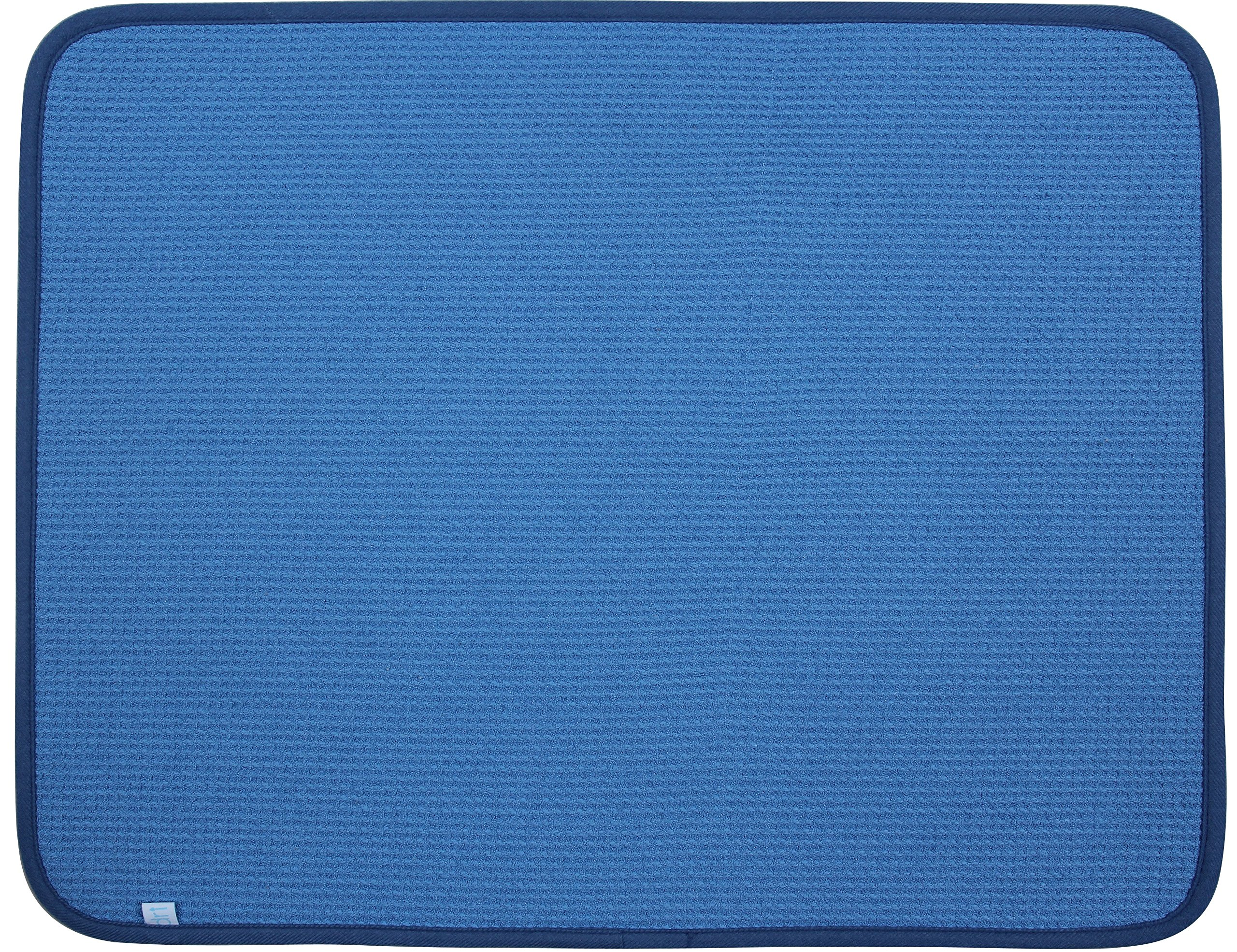 DRI Kitchen Dish Drying Mat Extra Large in Blue