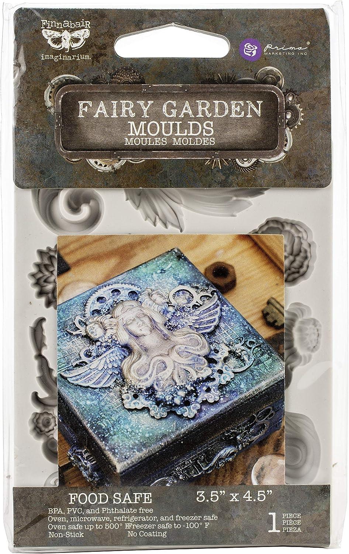 """Prima Marketing Finnabair Decor Moulds 3.5""""X4.5""""-Fairy Garden"""