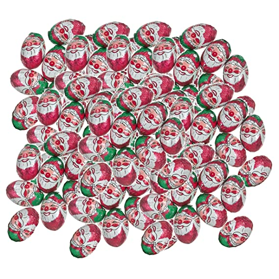 Factory Balls Christmas.100 X Milk Chocolate Foiled Christmas Santa Balls 4g Each