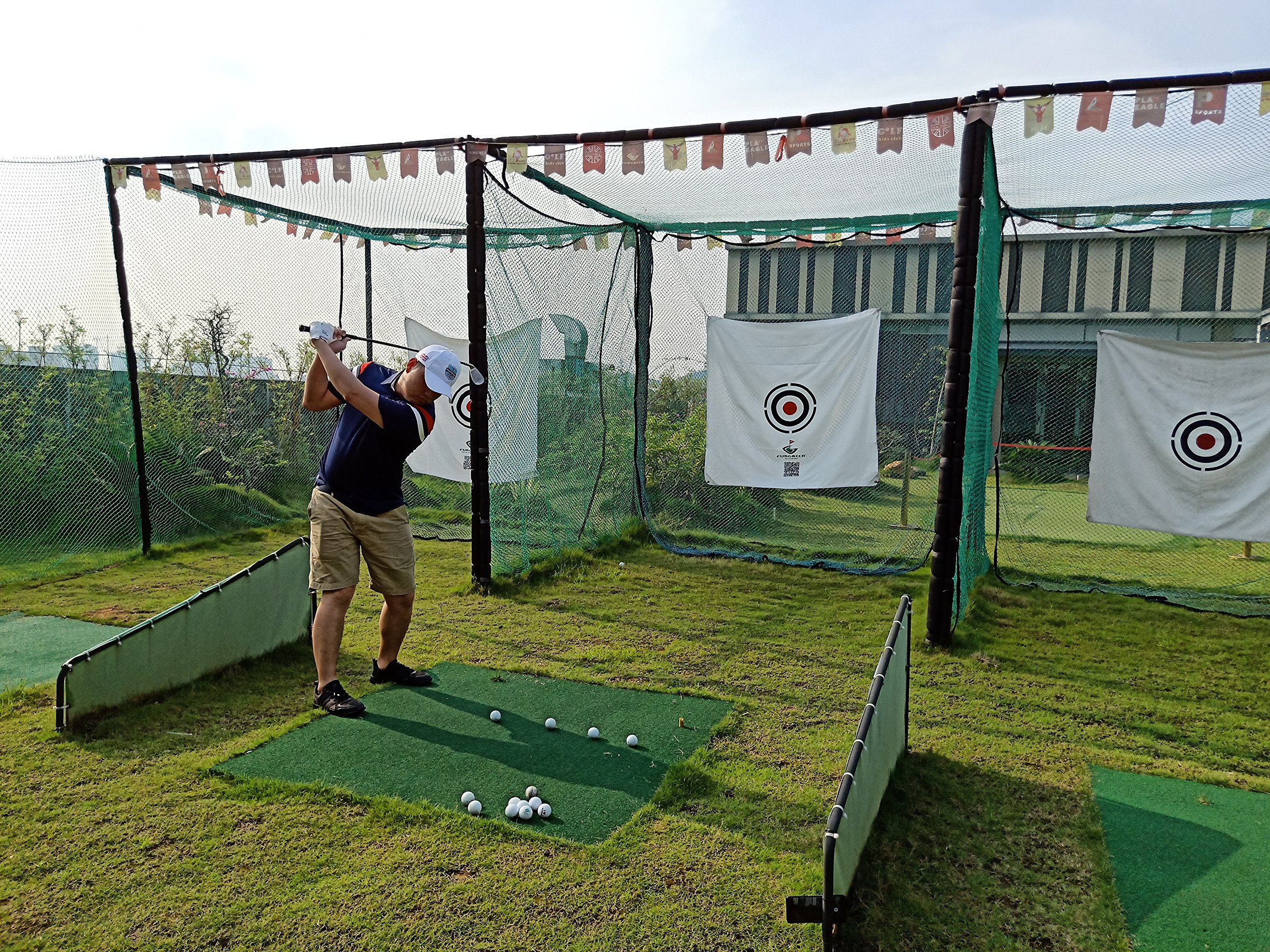 FUNGREEN 1.5Mx1.5M Golf Hitting Target Cloth for Golf Practice Indoor Training Outdoor Court Hitting Cloth Golf Accessories by FUNGREEN (Image #5)