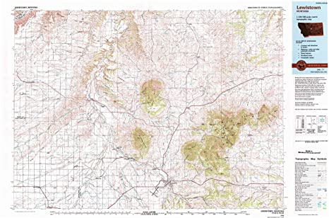 Lewiston Montana Map.Amazon Com Yellowmaps Lewistown Mt Topo Map 1 100000 Scale 30 X