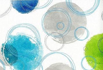 Vlies Tapete Retro Kreise Grafisches Muster Weis Turkis Grun