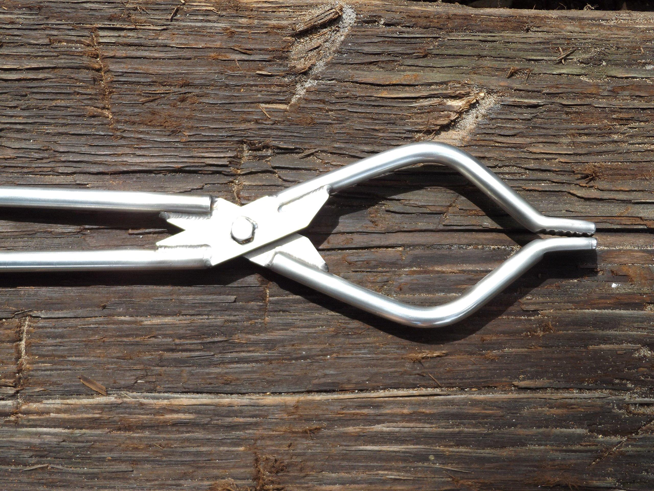 Genuine Stainless Tongs 32 1/2 inch Log Grabber TM