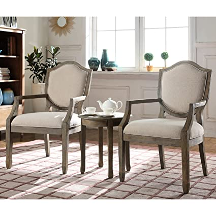 Best Master Furniture KF0027 Brave Traditional Living Room Accent Chair and  Table Set 23\