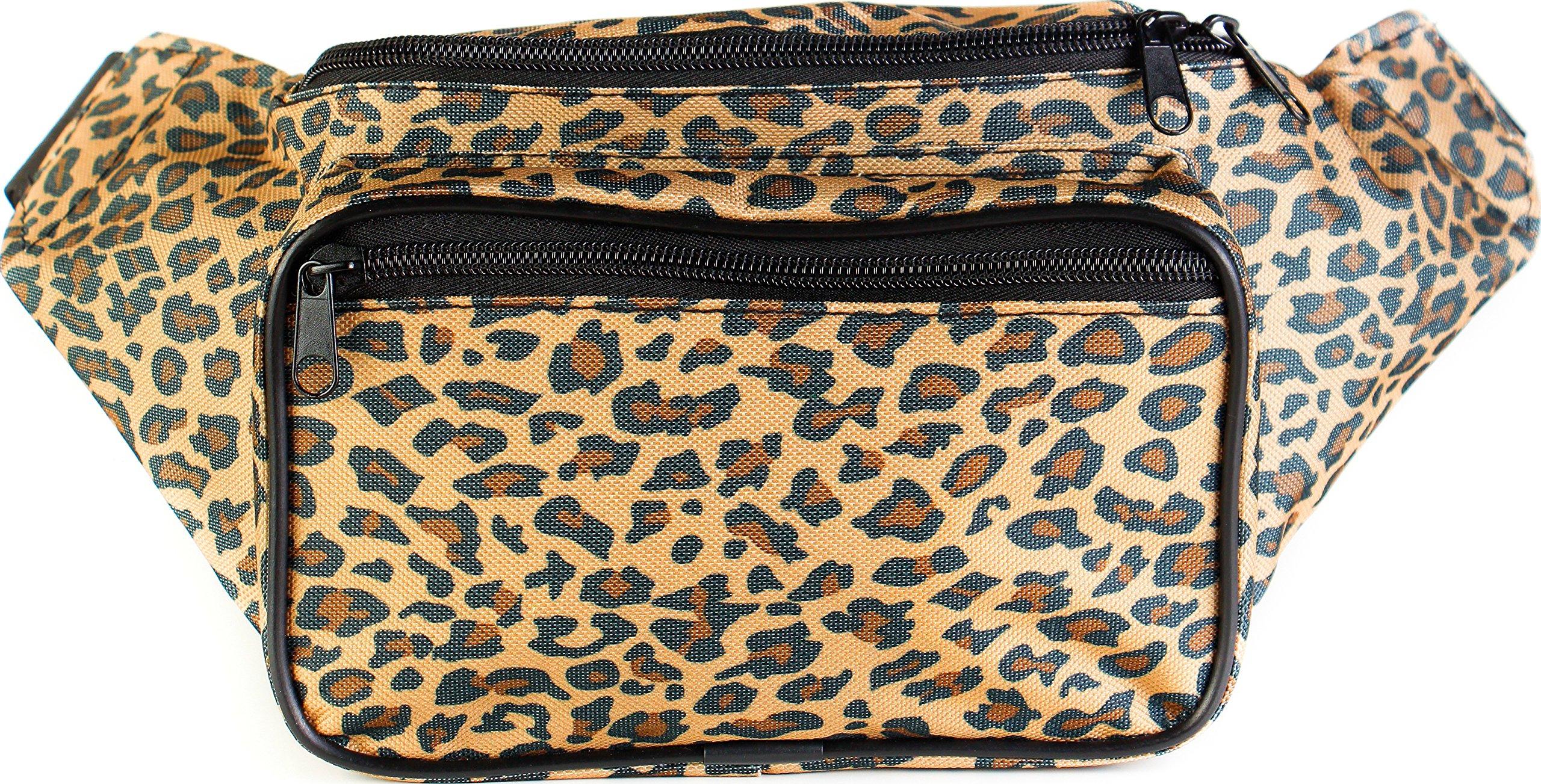 SoJourner Bags Cheetah Fanny Pack, Tan