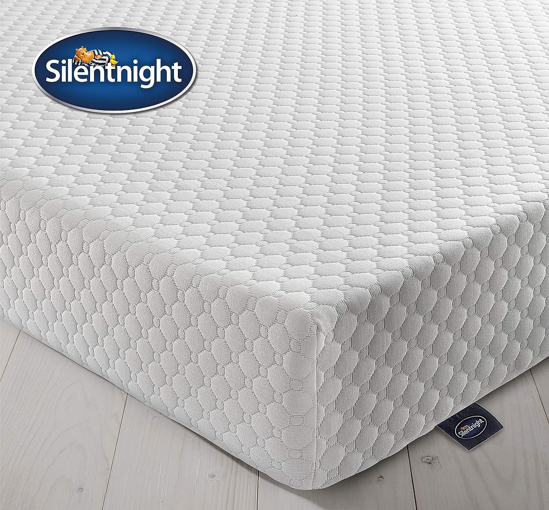Silentnight Schaumstoffmatratze, Polyurethan, weiß, 135 x 190 cm